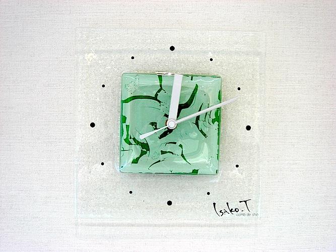 ガラスのインテリア時計