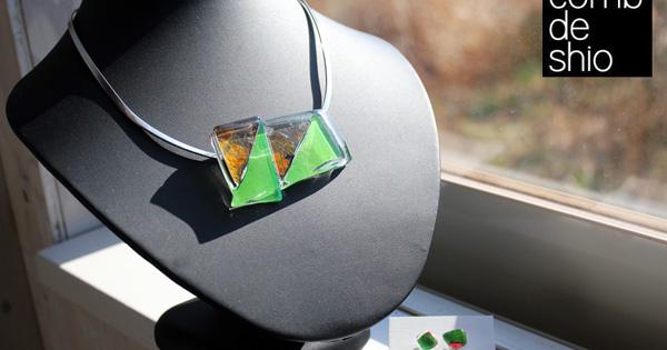 comb de shioガラスの新作チョーカー
