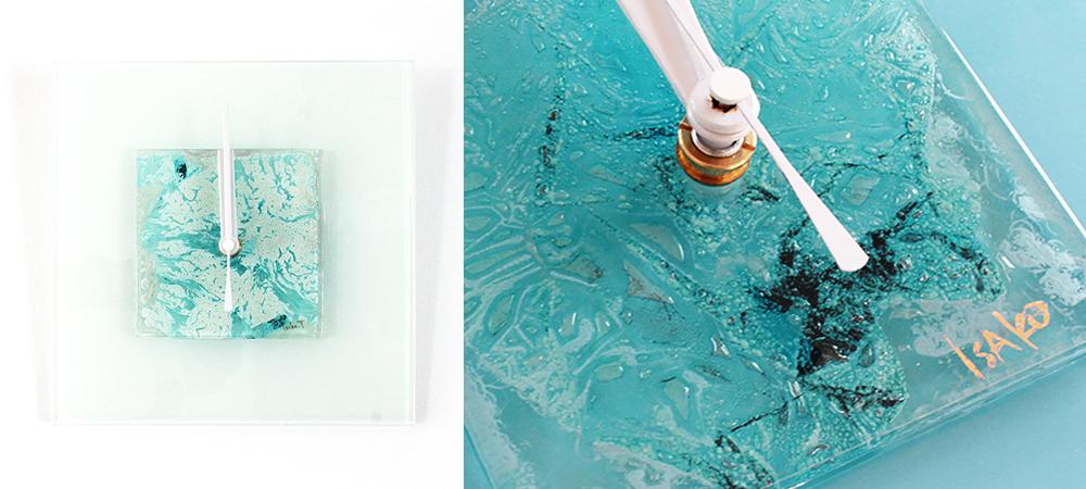 NEW!アートのようなガラス時計をオンラインショップにUP♪