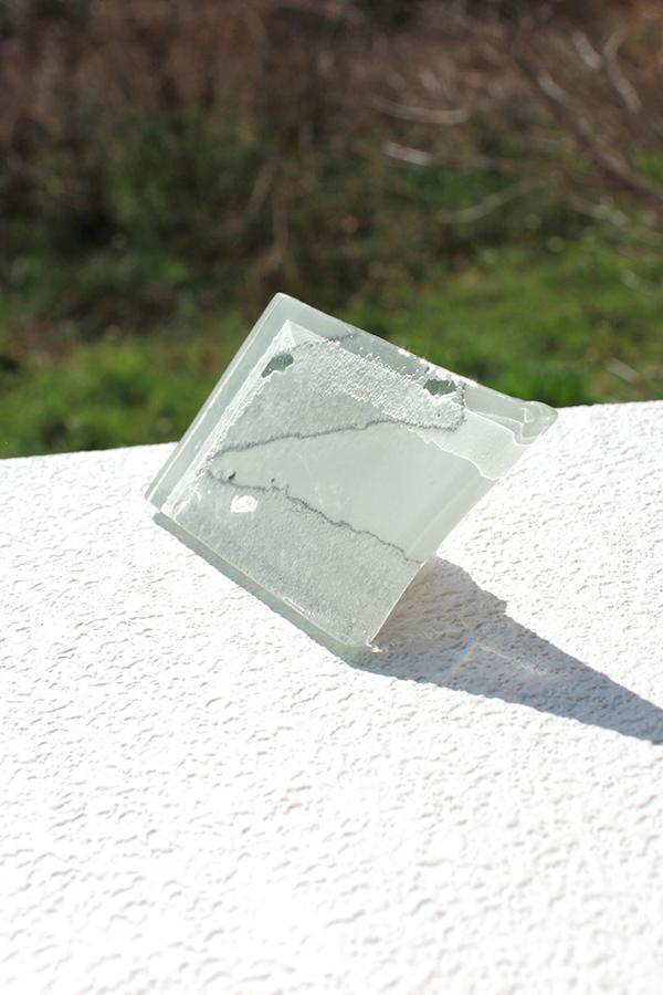 ガラスの帯留め