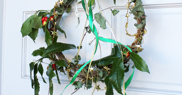 コムデシオ的  クリスマスリースを作りました、、、ISAKOのひとりごと