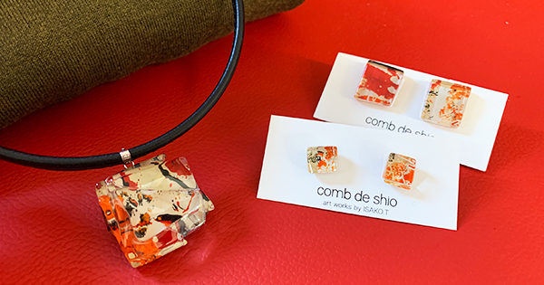 新作「おしゃれ上級者さんにおすすめ」人気のオレンジメモリー革チョーカー